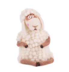 White cute lamb.
