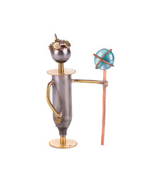 Creative figurine man of iron.