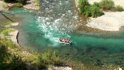 Whitewater rafting along the Köprüçay river in Turkey