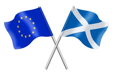 Flags: Europe and Scotland