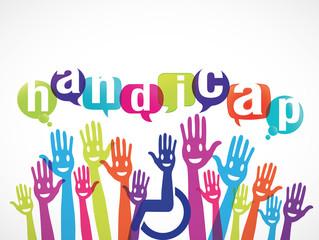 groupe mains souriantes : handicap