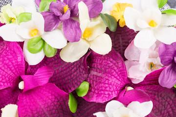 Beautiful artificial flowers.