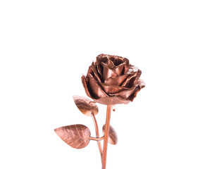 Beautiful handmade golden rose.