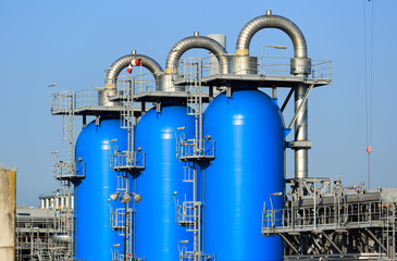 Gas processing and storage factory.