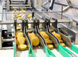 Leinwanddruck Bild - Fliessbandarbeit in d. Lebensmittelindustrie - Keksherstellung