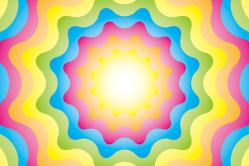 背景素材壁紙(瞑想, 歯車状の放射)