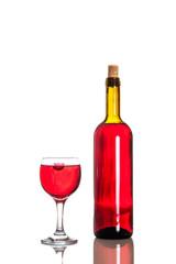 Wine drop in a glass