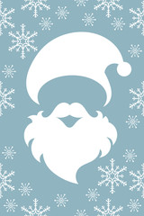santa claus abstract design