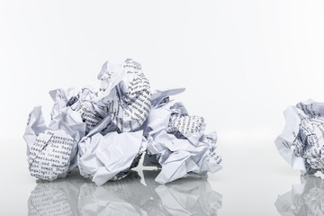 Papier zerknüllt Altpapier © Matthias Buehner
