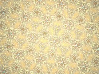 Abstract decorative curly yellow background