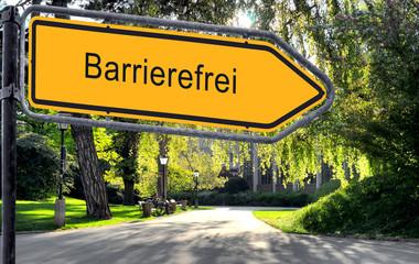 Strassenschild 25 - Barrierefrei