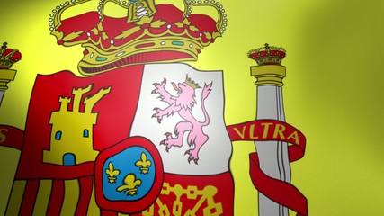 Spain Flag - waving