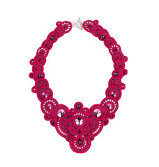 Beautiful handmade pink necklace.