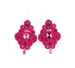 Handmade pink earrings.