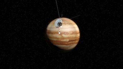 The space vehicle and Jupiter