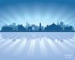 Omsk Russia skyline city silhouette