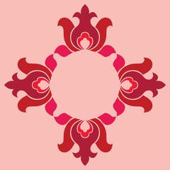 Basic floral seamless pattern, vector design