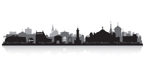 Omsk Russia city skyline vector silhouette
