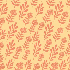 vector seamless flowers leaves