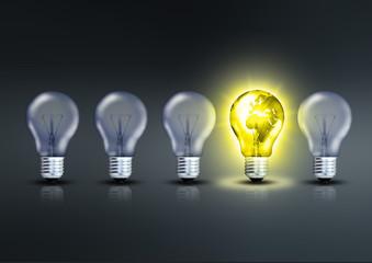 Inspirierende Glühbirne