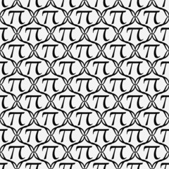Black and White Pi Symbol Repeat Pattern Background