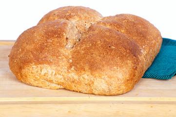 Homemade square whole wheat bread