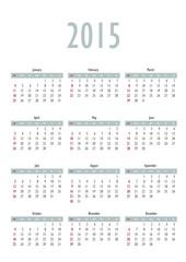 Vector template design - minimalistic calendar card