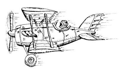 biplane cartoon