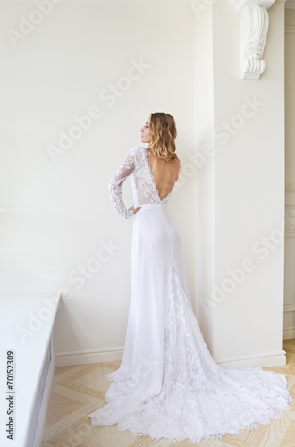 canvas print picture The beautiful bride in an interior
