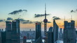 Shanghai skyline,day to night,time lapse(zooming out).