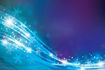 Magic Christmas background in blue colours