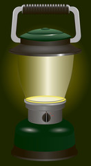 Included battery lantern