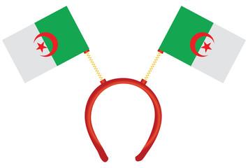 Algeria flag on the headdress