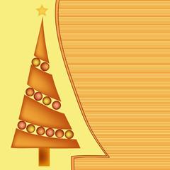 yellow orange brown christmas greeting card