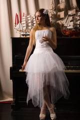 Bride in a boudoir
