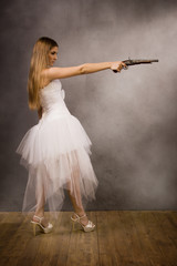 bride with a pistol