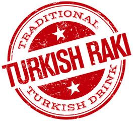 turkish raki stamp