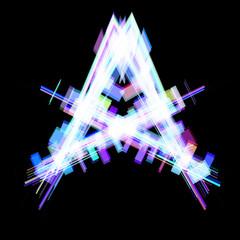 Abstract kaleidoscope image. Raster