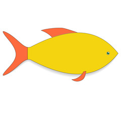Icon goldfish. Raster