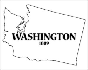 Washington State Outline and Date of Statehood