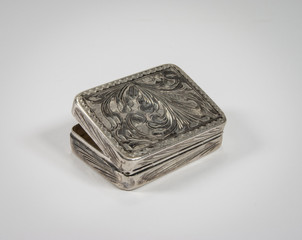 scatola d'argento