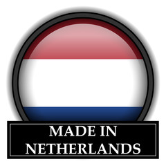 Made in button - Netherlands