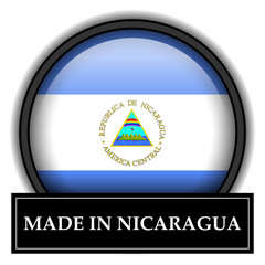 Made in button - Nicaragua