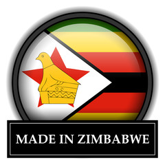 Made in button - Zimbabwe