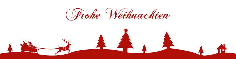 cb3 ChristmasBanner - Frohe Weihnachten - 4zu1 g1692