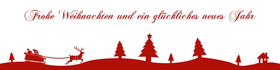 cb4 ChristmasBanner - Frohe Weihnachten Neues Jahr - 4zu1 g1693