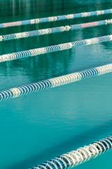 swimming lines in swimming pool