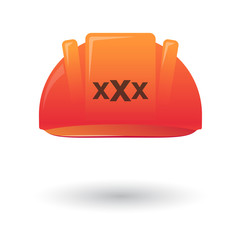 helmet with a triple x sign