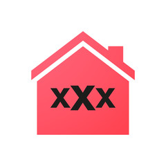 house with a triple x sign