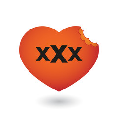 heart with a triple x sign